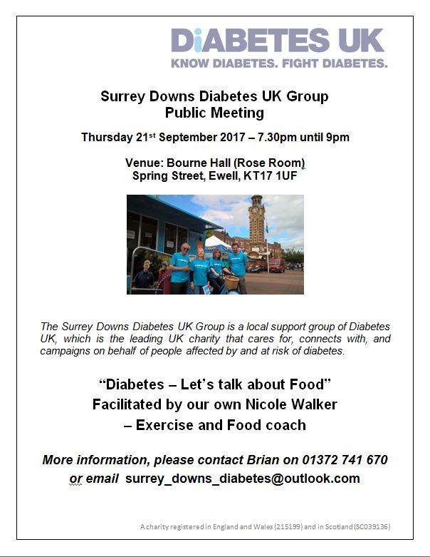Diabetes - Let's talk about food